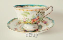 Royal Albert Bone China England Chelsea Bird Tea set of 4 Cup & Saucer