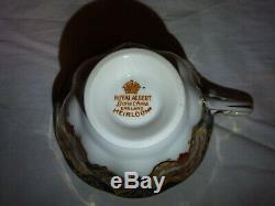 Royal Albert Bone China Heirloom Tea Set 6 Tea Cup Trio Set 21 Piece Excellent