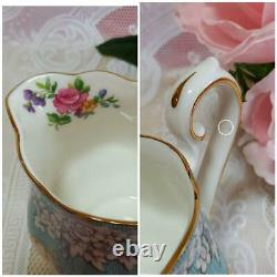 Royal Albert Enchantment tea set Teapot creamer sugar pot teacup & saucer x 5