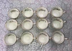 Royal Albert Flower Of The Month Set 24 Pieces Miniature Tea Cup & Saucer
