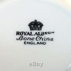 Royal Albert Heavy Gold Old English Rose Tea Cup and Saucer Set