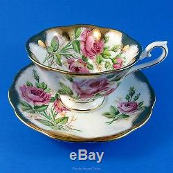 Royal Albert Heavy Gold with Pink Roses Tea Cup and Saucer Set