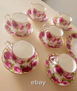 Royal Albert Old English Rose Cake Stand Tea Cup Saucer Plate Milk Sugar Coffee