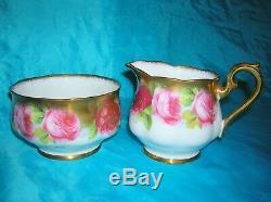 Royal Albert Old English Roses Lavish Wide Gilding Tea set 21 Ps Cups Plates Tea