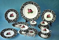 Royal Albert' Senorita' Tea Set & Tableware Rare English Bone China