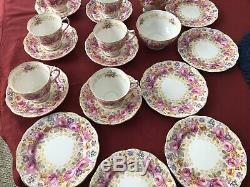 Royal Albert Serena Vintage 20-piece Pink Rose Bone China Tea Cup Set