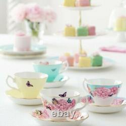 Royal Albert Teacup & Saucer By Miranda Kerr Set of 4