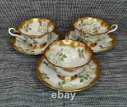 Royal Albert Treasure Chest Series Gilt & Rose English Bone China Tea Cup Set