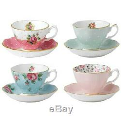 Royal Albert Vintage MIX Tea Cup And Saucer Set 8pce