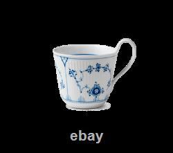 Royal Copenhagen Blue Fluted Plain High Handle Mug Set of 2