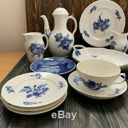Royal Copenhagen blue flower set coffee plate cup tea 10/8034 8040 8003 8095