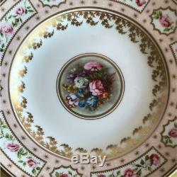Royal Crown Derby Billingsley Rose Coffee Tea cup Plate set 250th Anniv. 2000