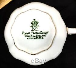 Royal Crown Derby Vintage Boxed Posies / Roses Tea Set / Cup & Saucer