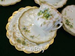 Royal Doulton Antique Victorian China Tea Set Floral & Gold RUTLAND 8 cup set