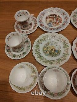 Royal Doulton Brambly Hedge Beakers, Plates, Tea Cups Saucers 1983 set of 20
