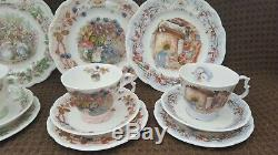 Royal Doulton Brambly Hedge Seasons Set Of Dessert & Tea Plate, Cup, Saucer