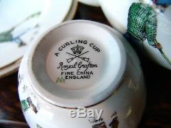 Royal Grafton CURLING CUP Fine Bone China Tea Set 20 pieces Teapot & Plates