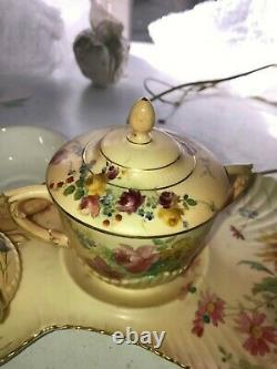 Royal Worcester Extermely Rare Tea For One Set With Twin Handled Cup With Lid