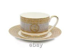 Royalty Porcelain 12-pc Tea or Coffee Cup Set for 6, Mosaic, Bone China