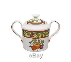 Royalty Porcelain 15-Piece Citrus Yellow Vintage Dining Tea Cup Set for 6