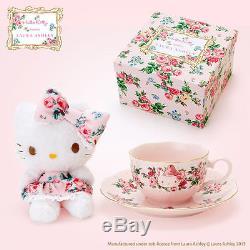 SANRIO Hello Kitty meets LAURA ASHLEY Mascot & Tea cup set Kawaii Cute NEW F/S