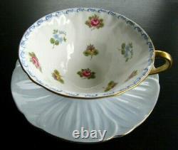 SHELLEY Forget me Not Pale Blue Oleander Teacup and Saucer Set England MINT