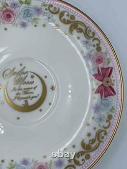 Sailor Moon & Noritake Collaboration Tea Cup & Saucer Set Japan Premium Bandai