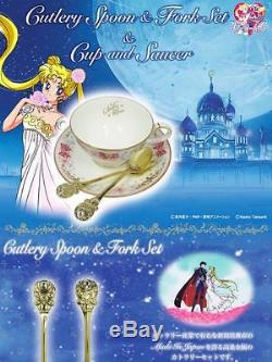 Sailor Moon x Noritake Collaboration Tea Cup and Saucer set with Cutlery Rare