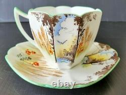 Scarce Shelley Queen Anne Corn and Poppies Teacup and Saucer Set Vintage Tea cup
