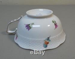 Set/8 Herend Hungary Porcelain Multi-flowers Tea Cups & Saucers