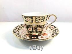 Set Of 4 Royal Crown Derby Traditional Imari 2451 Tea Cups Saucers 1st Quality