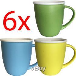 Set Of 6 Coffee Tea Mug Cup Set Kitchen Drinking Ceramic 10cm Gift Hot Chocolate