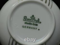 Set of 11 ROSENTHAL STUDIO LINIE 100 ANNIVERSARY SUOMI PLATINUM TEA CUP SAUCER
