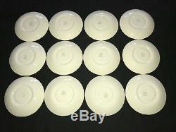 Set of 12 HTF Wedgwood Queensware Lavender on Cream Shell Edge Tea Cup & Saucer