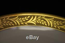 Set of 12 Hutschenreuther Gold Encrusted White Porcelain Tea/Coffee Cups