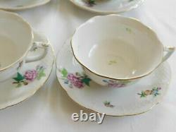 Set of 4 Herend eton tea cups and saucers #734