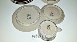 Set of 4 / RUIJA Tea Cup + Saucer + dessert plates ARABIA OF FINLAND