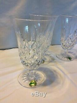 Set of 4 Waterford Crystal Footed Iced Tea Beverage Cup Lismore WithBox SHIPS FREE