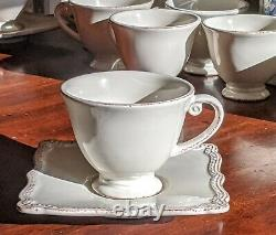 Set of 6 Vintage Pierre Deux Cup & Saucer Hand Crafted Earthenware DISCONTINUED