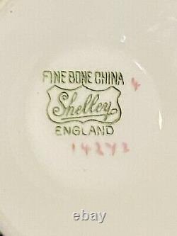Shelley Bone China Mint Green Bailey's Paisley Ripon Shape Tea Cup & Saucer Set
