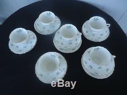Shelley china tea set 6 trios charm green 13752 tea cup & saucer plate teaset