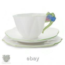Shelley dainty shape flower handle trio teacup saucer & plate set