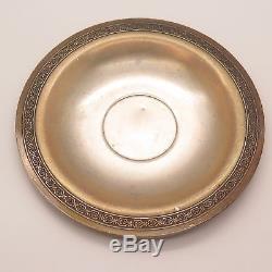 Soviet Union Vtg 875 Silver Handmade Tea Cup & Saucer Set