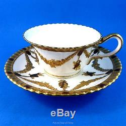 Stunning Museum Quality Gold Ornate Wedgwood Cabinet Tea Cup and Saucer Set