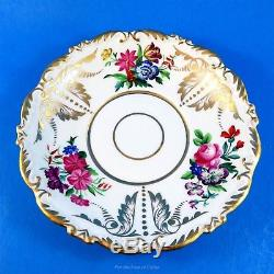 Stunning Ornate Floral Bavaria Germany Tea Cup and Saucer Set