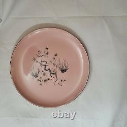 Taylor Smith Taylor 19pc Pink Dwarf Pine Dinner Dessert Bread Tea Cup Plate Set