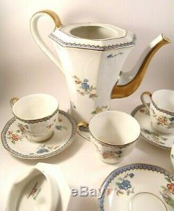Theodore Haviland Limoges Paradise France China Tea Set 10 piece Teapot Tea Cups