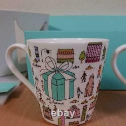 Tiffany & Co Bone China 5th Avenue Coffee Tea Mug Cup 2pcs Set With Gift Box New
