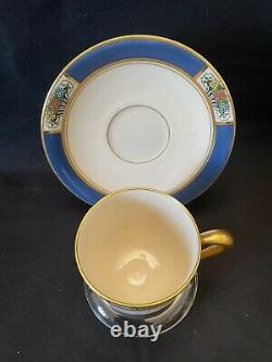 Tiffany & Co Lenox Tea Cup and Saucer Set Of 6. Signed and stamped