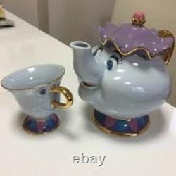 Tokyo Disney Limited Beauty and the Beast pot Mrs pot tea cup sugar pot set NEW